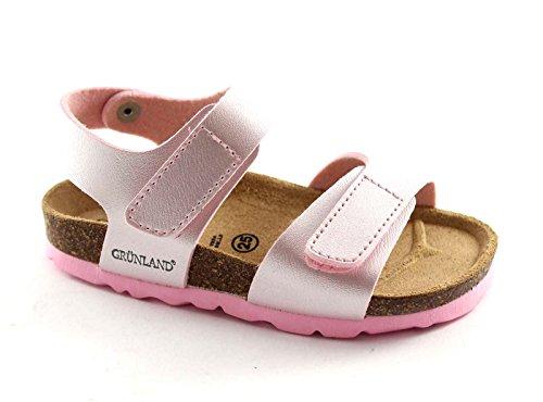 GRUNLAND LUCE SB0019 25/30 rosa sandalo bambina strappi birk 24