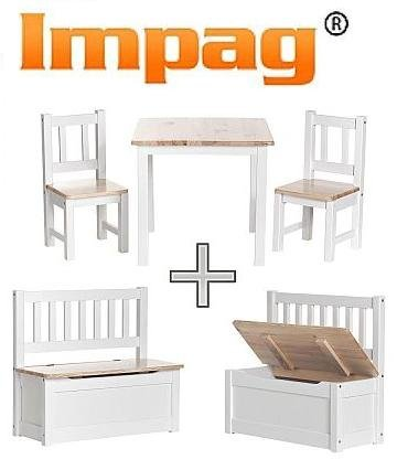 kindersitzgruppe kinderm bel sitzgruppe kindertruhenbank kinderbank truhenbank in wei lack. Black Bedroom Furniture Sets. Home Design Ideas