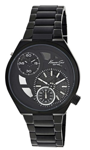 Kenneth Cole Men's Quartz Watch with Black Dial Analogue Display and Black Stainless Steel Bracelet KC3992