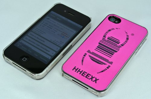 Offizielle Geocaching iphone 4/4S Travel Bug® Schale / Cover transparent/pink