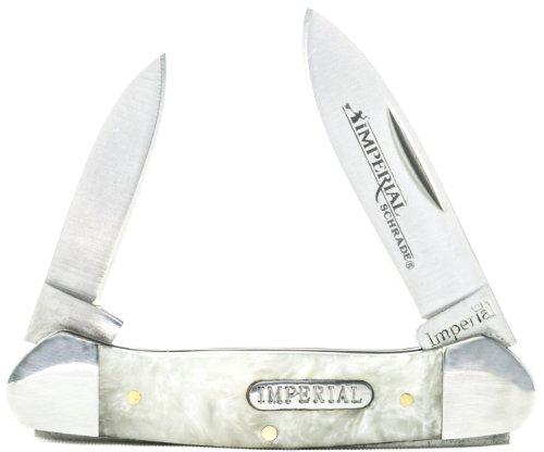 Imperial Schrade IMP11 Cracked Ice Canoe 2-Blade Folding Pocket Knife, Large