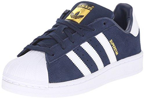 adidas Originals Superstar J Casual Low-Cut Basketball Sneaker (Big Kid),Collegiate Navy/White/White,6 M US Big Kid