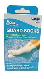 Aqua Guard Swimming Socks / Verruca Guard Sock (Verrucae) Large Size 6-8 (adult)