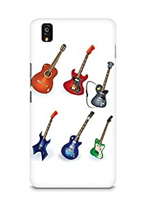 Amez designer printed 3d premium high quality back case cover for OnePlus X (Guitar Designs)