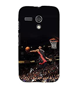 printtech Basketball Stadium Player Back Case Cover for Motorola Moto G X1032 / Motorola Moto G (1st Gen)