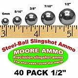 40 pack 1/2' Steel-Ball slingshot ammo (12 oz)