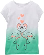 Carter39s Little Girls39 Flamingos and Hearts Ombr233 Tee