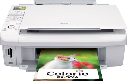 EPSON MultiPhoto Colorio 普通紙くっきり フォト複合機 4色顔料インク PX-501A