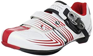 Pearl iZUMi Men's Race Road II Spinning Shoe,White/Black,43 EU/9.5 D US