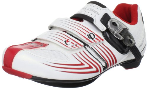 Pearl iZUMi Men's Race Road II Spinning Shoe,White/Black,46.5 EU/12 D US