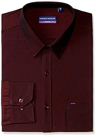 Indigo Nation Men's Dress Shirt (8907372162140_1ISD5312_38_Dark Purple)