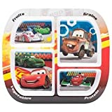 Zak Design Disney Cars CASV-0355 Healthy by Design Divided Plate, Pack Of 6