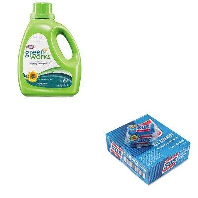 Kitcox30319Cox91028Ct - Value Kit - Clorox Naturally Derived Liquid Laundry Detergent (Cox30319) And Clorox All-Surface Scrubbing Sponge (Cox91028Ct) front-605046