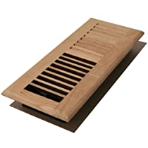 Decor Grates WL210-U 2-Inch by 10-Inch Wood Floor Register, Unfinished Oak