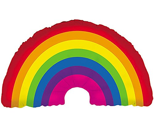 Rainbow Helium Shape Balloon (1 ct) (1 per package) - 1