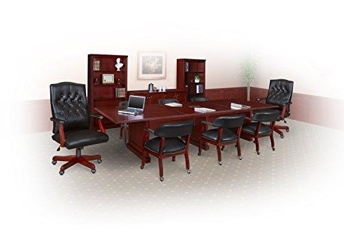 regency prestige 144 inch modular conference table with power data grommets mahogany furniture. Black Bedroom Furniture Sets. Home Design Ideas