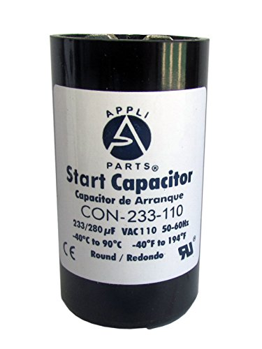 Start Capacitor 233-280 MFD uF 110V Round Can CD60. UL Certified (Can Capacitor compare prices)