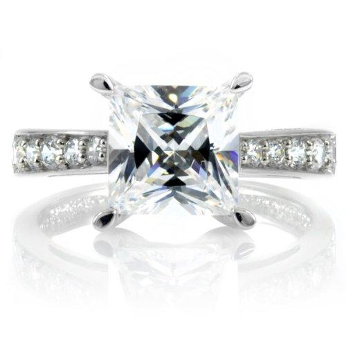Clarise's Engagement Ring - 2.5 CT Princess Cut CZ - Final Sale