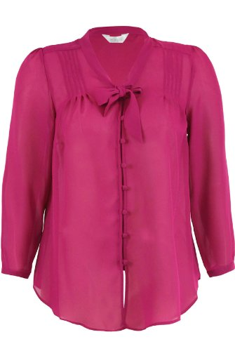 Chiffon blouse  tie front and looped button hooks