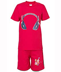 Ultrafit Junior Boys Cotton Red Twin Sets