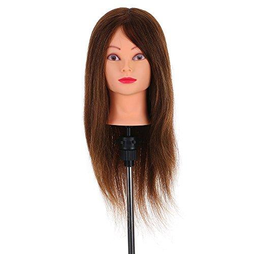 anself-maniqui-de-cabeza-100-pelo-humano-61cmcolor-castano-oscurocon-soportepara-aprendizaje-practic