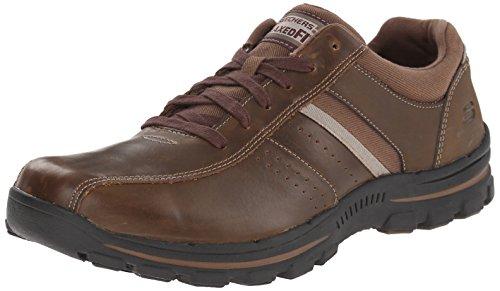 Skechers - Braver Alfano, Sneakers da uomo, Marrone (Brown (Acdb - Brown)), 42