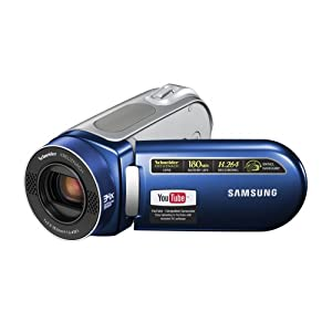 Samsung SC-MX20 Shoot & Share memory camcorder w/34x Optical Zoom (Blue)