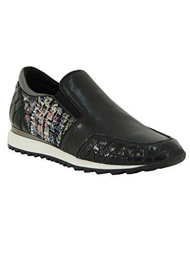 Scarpa donna Tosca Blu sneaker in pelle da infilare SF1511S208 nero 38