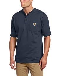 Carhartt Men\'s Big & Tall Workwear Pocket Short Sleeve Henley Original Fit K84,Bluestone,XXX-Large Tall