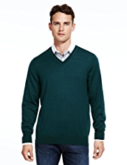 Autograph Pure Merino Wool V-Neck Jumper