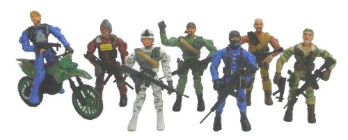 Buy Low Price Lanard The Corps 7 Figures with a Cycle (B000HED4Q6)