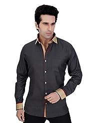 Arany's Premium Grey Slim Fit Party Wear Shirt For Men - F5680