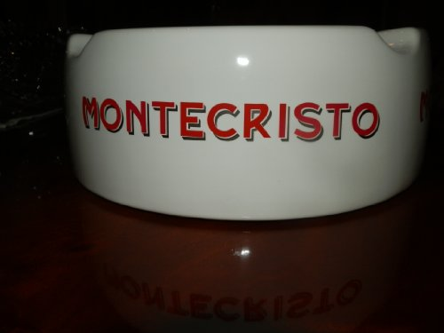 MASSIVE 10 MONTECRISTO CIGAR ASHTRAY 4 CIGAR RESTS