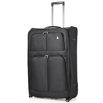 "Aerolite Super Lightweight World lightest Suitcase Trolley Cases Bag Luggage (29"", Black (2 Wheel))"