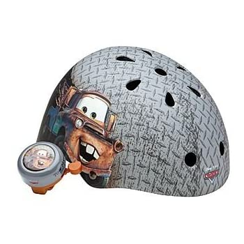 Disney Pixar Cars Bicyle Helmet rated for children 5+.  Helmet Value Pack includes bonus bicycle bell.