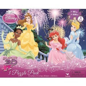 Disney Princess 3D 3-in-1 Puzzle
