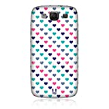 Ecell - HEAD CASE PINK AND TURQUOISE MULTI-COLOURED CASE FOR SAMSUNG GALAXY S III I9300