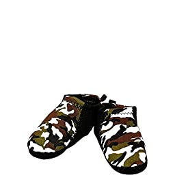 Nufoot Baby Booties, Camo with Black Stripe, 6-12 Months