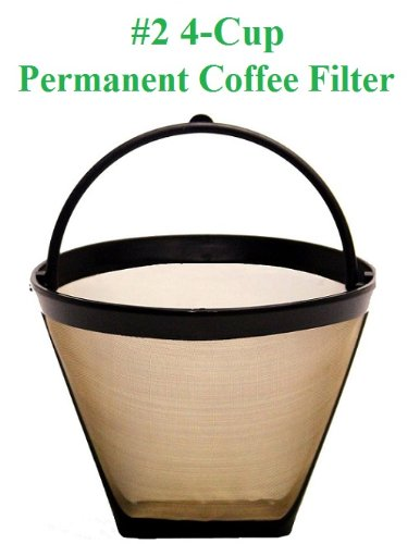 One Cup Coffee Maker With Permanent Filter : Permanent #4 UGSF4 10-12 Cup Coffee Filter with Finger Grip and Handle fits Braun Coffeemakers ...