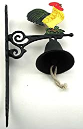 Cast Iron Painted Rooster Bell