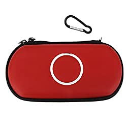 Imported Carry Case Cover Bag Game Pouch For SONY PSP 1000 2000 3000 Slim -Red