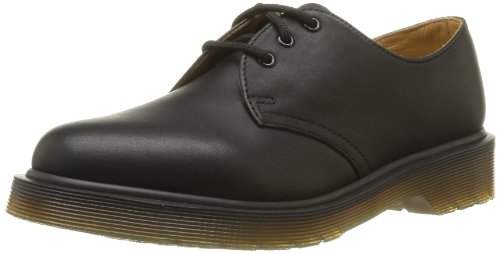 Dr. Martens - Scarpe basse stringate 1461Z Smooth Cherry, Unisex - adulto, Nero (Black), 41