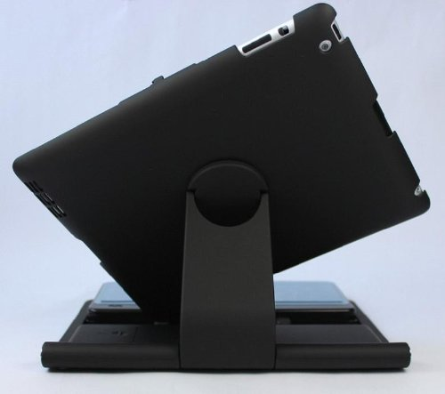 Bluetooth Wireless Keyboard 360 Degrees Rotate Sliding Cover Case for iPad 2/3 - Black