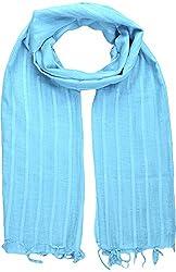 Sahiba Creation trendy and colourful women stole for all time wear(sky blue)