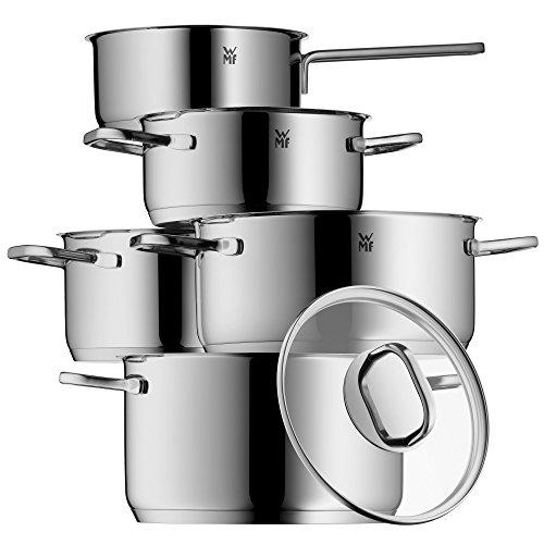 Topf-Set 5-teilig Inspiration Schüttrand Glasdeckel Cromargan Edelstahl poliert induktionsgeeignet spülmaschinengeeignet