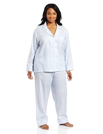 BedHead Pajamas Women's Plus-Size Houndstooth, Blue, Plus-Size 2X