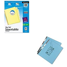 KITAVE11112UNV15441 - Value Kit - Universal Pressboard Hanging Data Binder (UNV15441) and Avery WorkSaver Big Tab Reinforced Dividers W/ Clear Tabs (AVE11112)