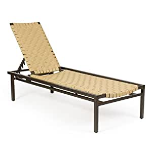 Woodard Salona Strap Adjustable Chaise Lounge Patio Lounge Cha
