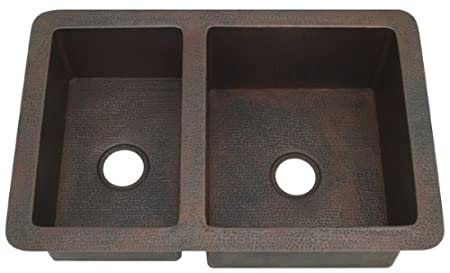KDI36W2 4060 4060 inch Hammermarc Kitchen Double Well 40/60 or 60/40