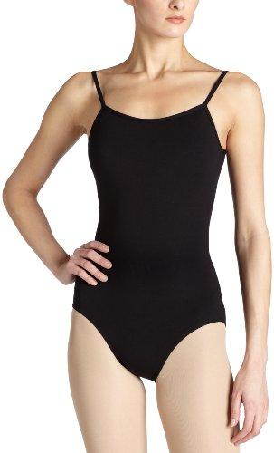 Capezio Women's Camisole Leotard With Adjustable Straps, Black, Large